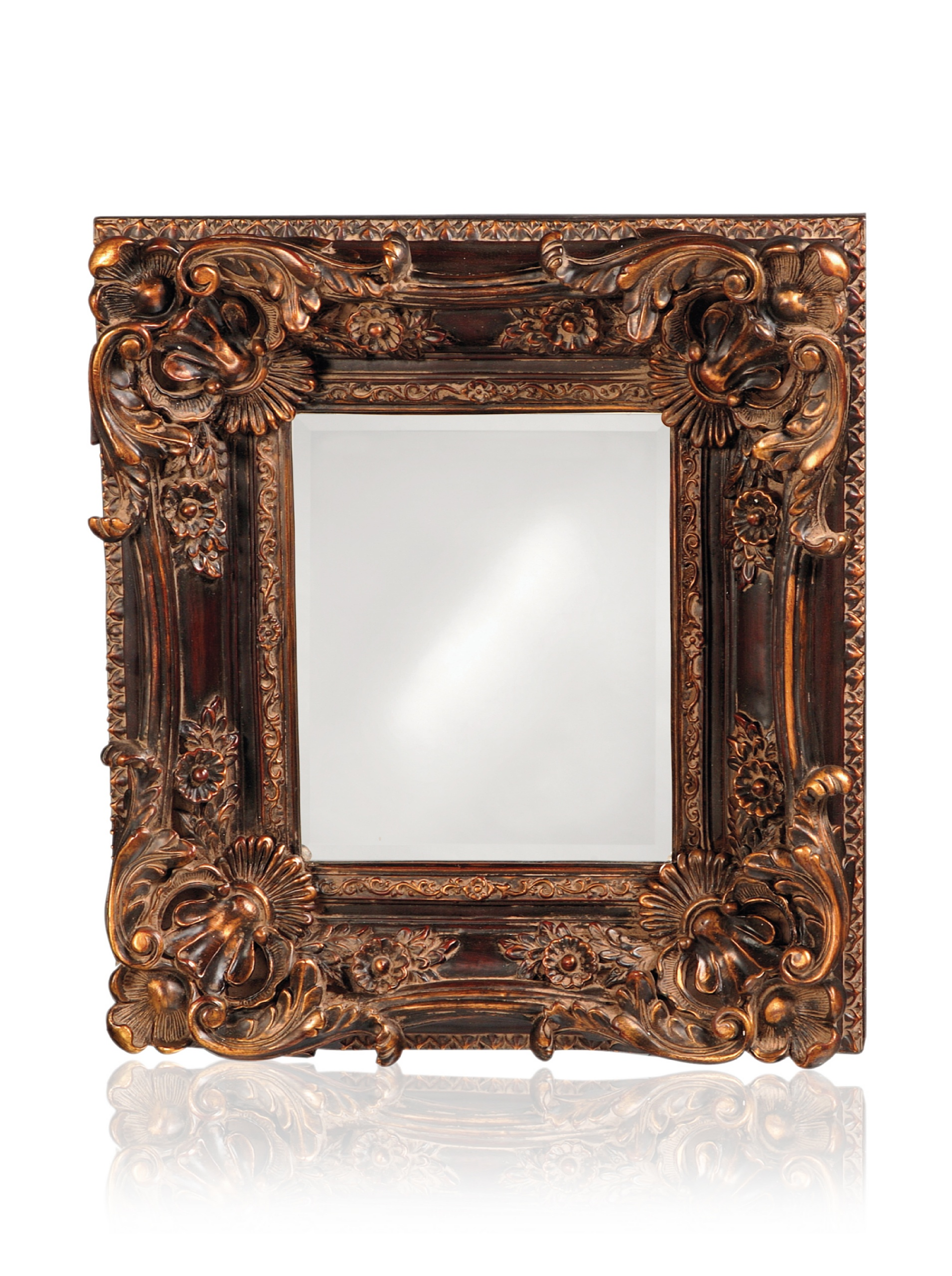 Brussels Mirror, Brown/Gold