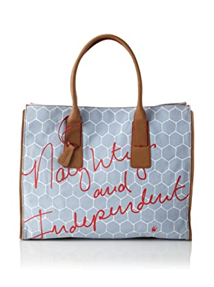 Loquita Women's Honeycomb East/West Tote (Blue)