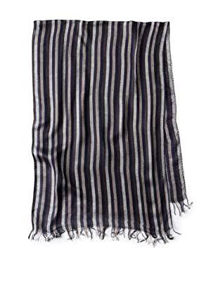 French Connection Men's Double Windsor Scarf (Darkest Blue)