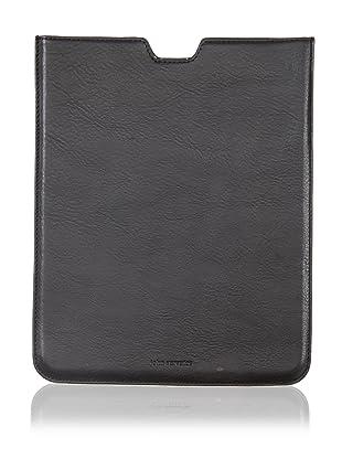 John Varvatos Collection Men's Vachetta Leather iPad Case (Black)
