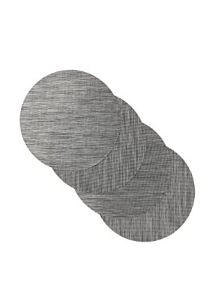 Winkler Set of 4 Round Nortiga Placemats, Grey