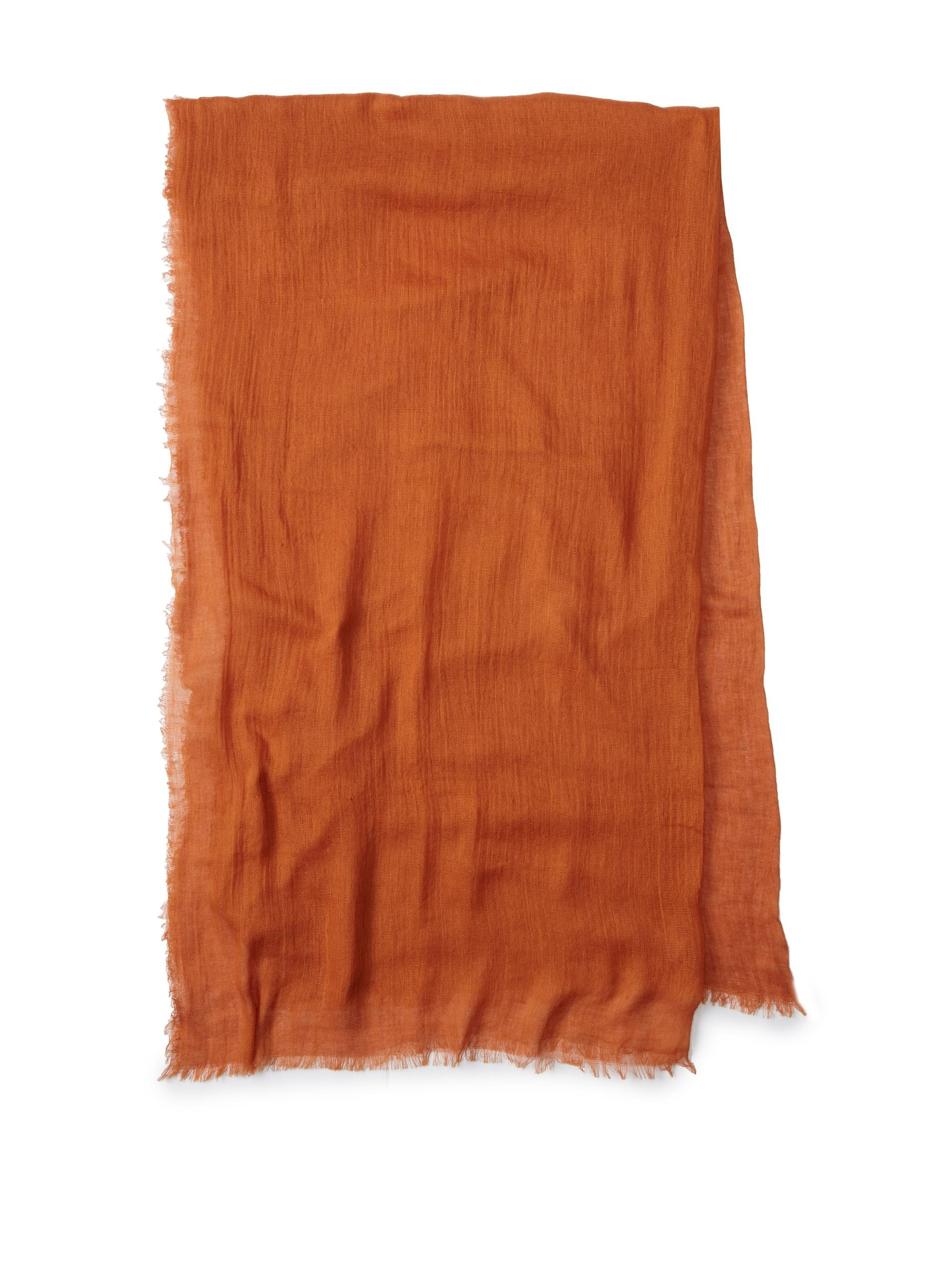 Carolina Amato Women's Cotton Gauze Wrap (Copper)