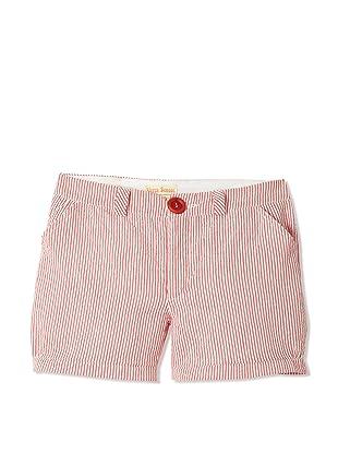 Upper School Girl's Seersucker Shorts (Cherry)