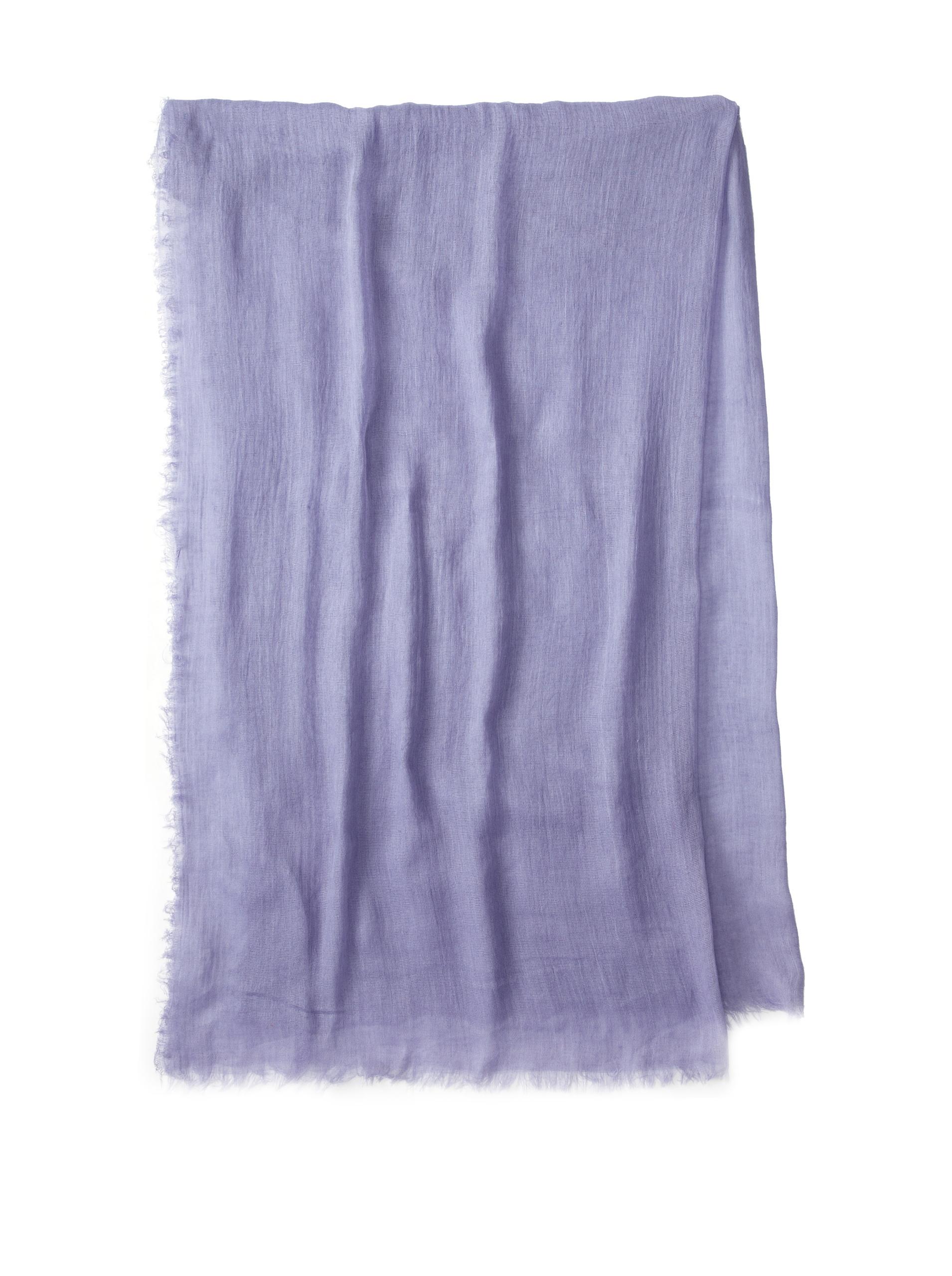 Carolina Amato Women's Cotton Gauze Wrap (Periwinkle)