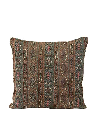 John-Richard Collection Rich Woven Paisley Beaded Pillow, 18