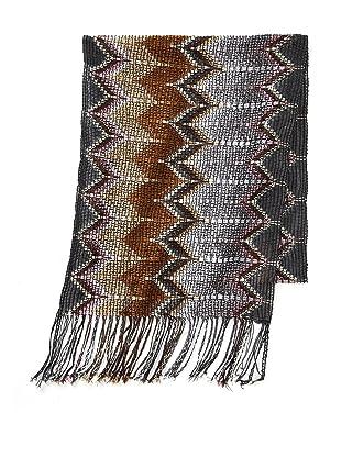 Missoni Women's Open Zigzag Scarf, Grey/Brown