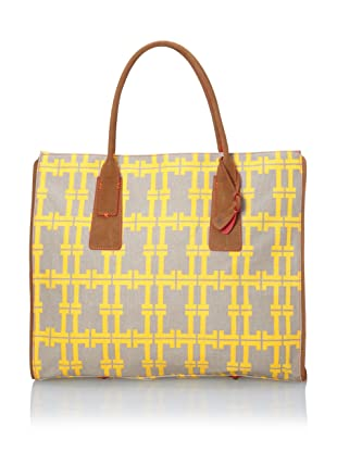 Loquita Women's Double L East/West Tote (Yellow)