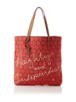 Loquita Women's Honeycomb Square Tote (Red)