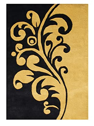 Horizon Alliyah Collection Filigree Rug (Tan/Black)