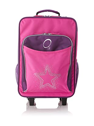 O3 Kids Rolling Luggage with Integrated Snack Cooler, Rhinestone Star