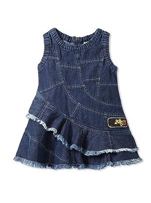 Bebe Bushh Girls Ruffle Dress (Indigo)