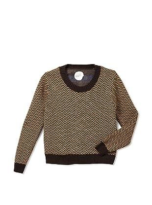 Kicokids Boys Intarsia Surprise Dotty-Back Sweater (Tortoise)