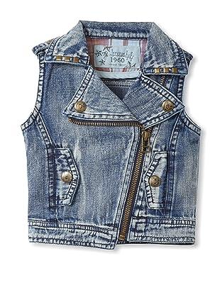 Bebe Bushh Girls Zip Vest (Indigo)