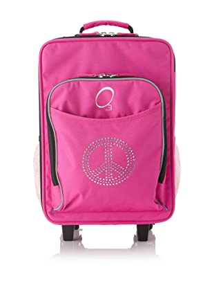 O3 Kids Rolling Luggage with Integrated Snack Cooler, Rhinestone Peace