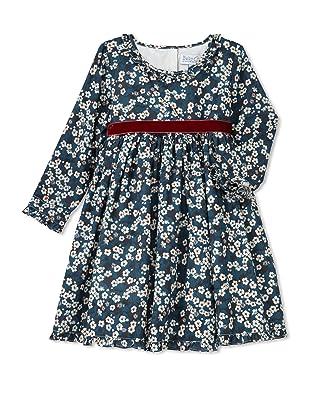 Baby CZ Girl's Audrey Dress (Liberty Mitsi Teal)