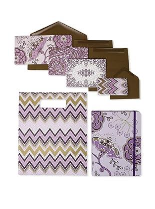 Elum Crewel Embroidery-Collection Set, Purple/Brown