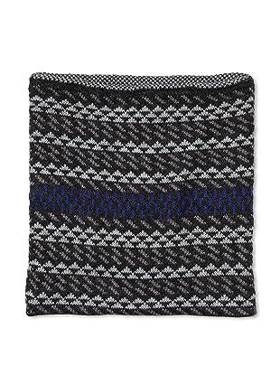 Number:Lab Men's Wool Fair Isle Tube Scarf (Silver)