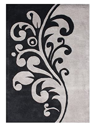 Horizon Alliyah Collection Filigree Rug (Black/Flint Gray)