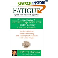ISBN:0425207544 Fatigue by Dr.    Peter J. D'Adamo and Catherine Whitney