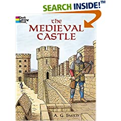 ISBN:0486420809 The Medieval Castle (Dover History Coloring Book) by A.    G. Smith