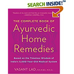 ISBN:0609802860 The Complete Book of Ayurvedic Home Remedies by Vasant    Lad