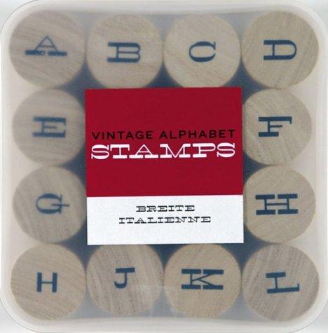 Vintage Alpahbet Stamps Breite Italienne (Stamp Kits)