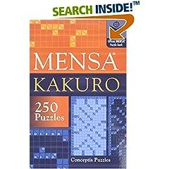 ISBN:1402739370 Mensa® Kakuro by Conceptis    Puzzles