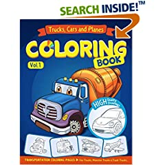ISBN:1542959276 Trucks, Planes and Cars Coloring Book by Ann    Rainbow Coloring books