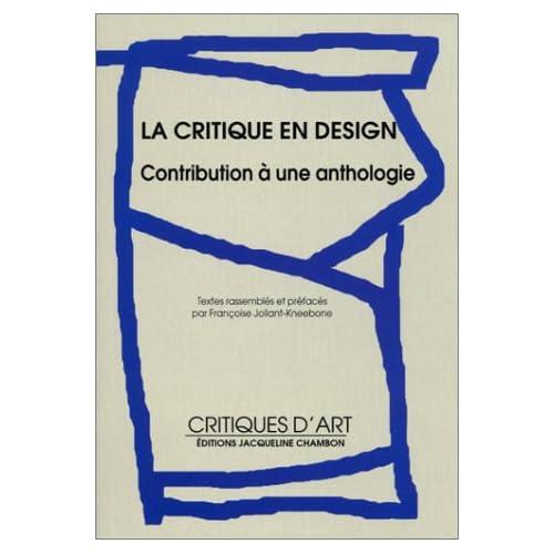 La critique en design : Contribution à une anthologie