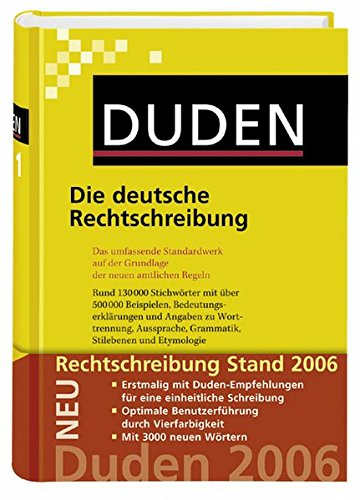 Duden 01. Die deutsche Rechtschreibung