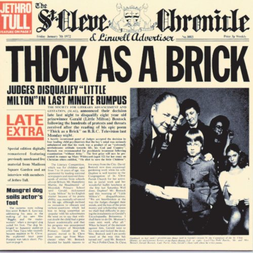 Jethro Tull - Thick As a Brick - Zortam Music