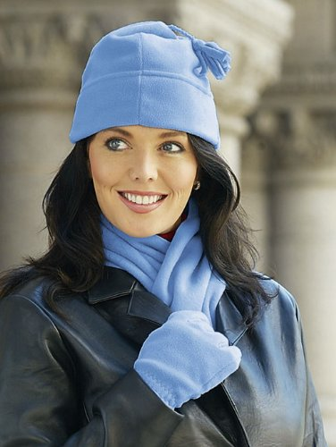 Ladies' Fleece Glove Scarf and Hat Set