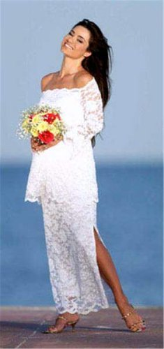 The 2pc Lace Wedding Gown Medium White