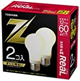 東芝 ネオボールZリアル 電球形蛍光ランプ ボール電球60ワットタイプ 電球色 2個パック EFA15EL12-R-2P