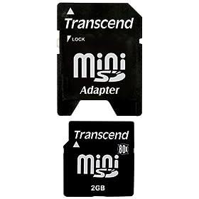 : Transcend miniSDカード 80倍速 2GB TS2GSDM80