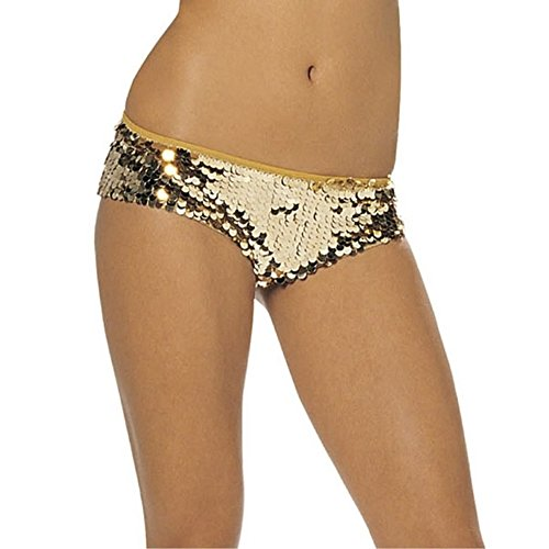 Sequined Lycra Low-Rise Tanga Shorts