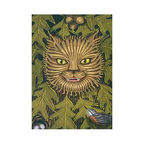 The Cheshire Cat -- artist's blank notecards (set of 3) , Humphrey, Sheryl (illustrator)
