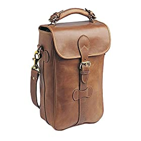 Mulholland 2 Bottle Wine Carrier Leather