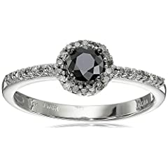 14k White Gold Black