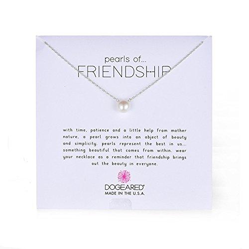 美亚海淘推荐:清新优雅,Dogeared Pearls of Friendship 珍珠吊坠项链,银色版