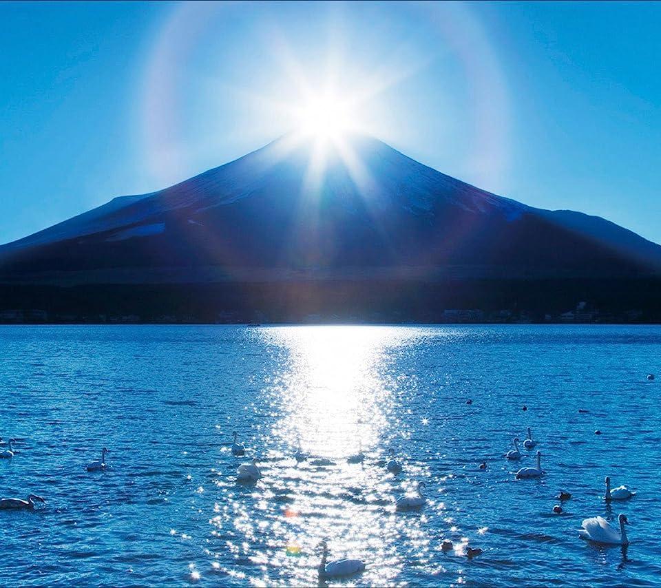 富士山ダイヤモンド待ち受け高画質壁紙です。