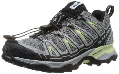 (速抢)萨洛蒙Salomon女款轻量户外徒步鞋X-Ultra Shoe 灰绿 .82