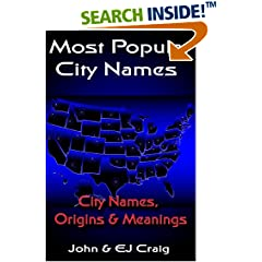 ISBN:B00D5Z4QUC Most Popular City Names by Thornton & Craig