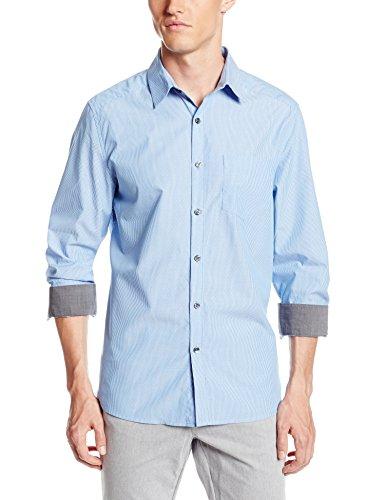 美亚海淘推荐商品:撞色衬衫,Kenneth Cole 男士纯棉衬衫 2.4折